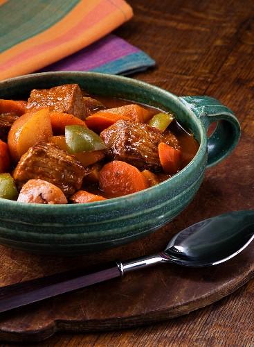 Bowl of Beef Steak Stew