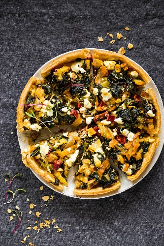 Swiss chard tart with feta
