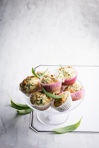 Wild garlic muffins