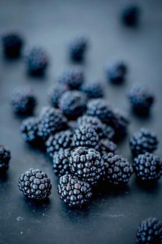 Blackberries on a dark background
