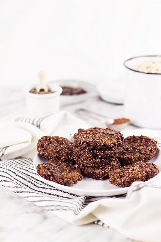 Cookies with oats chia seeds and banana
