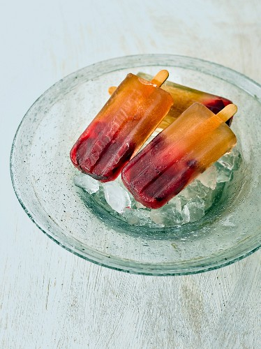 Home-made fruit ice lollies