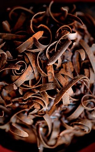 Rolls of chocolate (close-up)