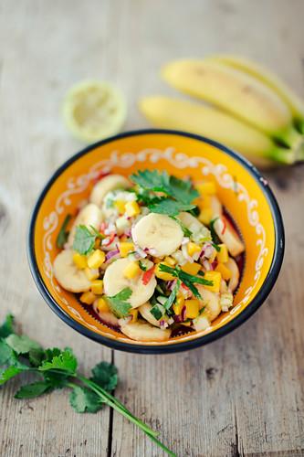 Ceviche mit Bananen und Mango
