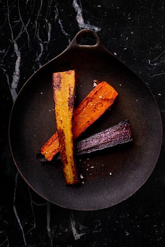 Gegrillte Karotten