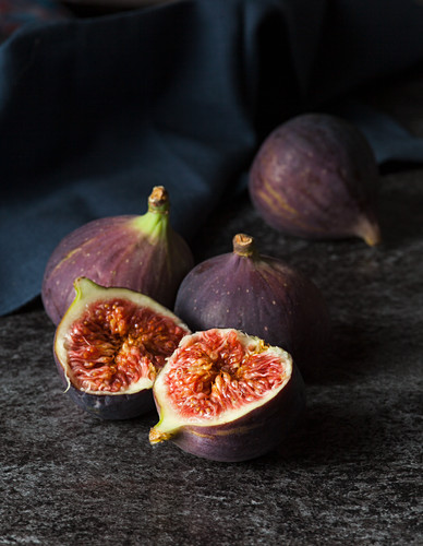 Figs, one halved