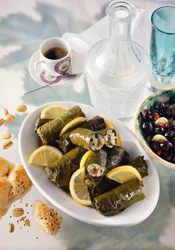 Dolmades (gefüllte Weinblätter, Griechenland)