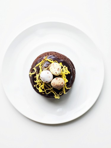 Whoopie Pie with candy eggs for easter