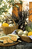 Assorted Melons in Baskets