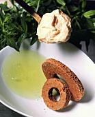 Schokoladenkuchen-Kringel mit Kaffeecreme