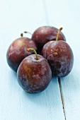 Four plums, cultivar cacanska lepotica