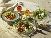 Drei Salatteller