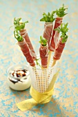 Grissini with rocket and Prosciutto