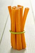 A bundle of carrot sticks