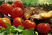 Fresh Tomatoes with Herbs and Focaccia