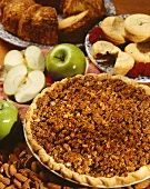 Whole Apple Pie with Crumb Topping