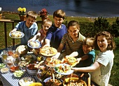 Outdoor Family Lunch Scene