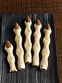 Finger cookies for Halloween