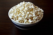 Bowl of Popcorn on Dark Background