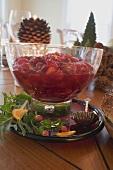 Cranberrysauce am Weihnachtstisch (USA)