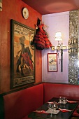 A flamenco dancer doll in a tapas bar