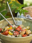 Panzanella (bread salad with tomatoes, onions and basil)