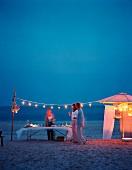 Evening beach party