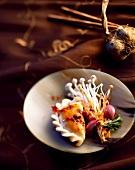 Ravioli with shimeji mushrooms (Asia)