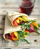 Three Vegetable Wraps