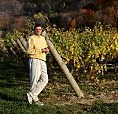 Tom Pennachetti in Beamsville vineyard, Cave Spring Cellars