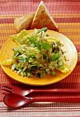 Salatteller mit Minze und Pistazien (Libanon)