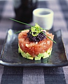 Tuna tartare with avocado and caviare