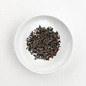 Black tea (dry) on plate