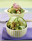 Spicy cucumber salad with sesame