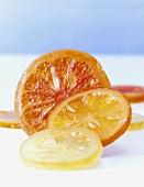 Candied citrus fruit slices