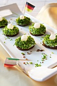 Pumpernickel with chives (football theme)