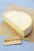 Reblochon cheese on paper