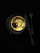 Caviar on gold plate