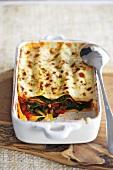 Spinach and tomato lasagne