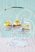 Confetti cupcakes with mandarin orange segments