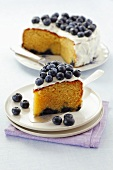 Iced blueberry cake