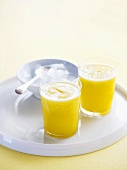Fruit juice made with Nashi pears, pineapple and orange