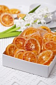 Candied orange slices in box