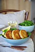Potato and fish cakes