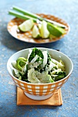 Savoy cabbage medley with a creamy ginger sauce