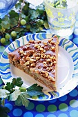 Gooseberry cake with nuts