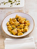 Sweet potato gnocchi with pistachios