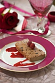 Chocolate and prune terrine for Valentine's Day