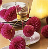 Aperitif with paper garland