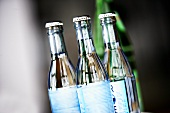 Three bottles of mineral water
